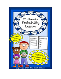 7th Grade Probability Lesson: FOLDABLE & Homework
