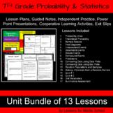7th Grade Math - Probability and Statistics Bundle