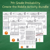 7th Grade Probability Unit Create the Riddle Activity Bundle