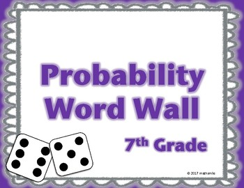 7th Grade Probability Word Wall