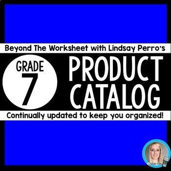 7th Grade Product Catalog