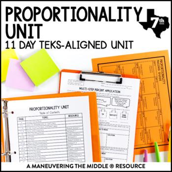 7th Grade Proportionality Unit: TEKS 7.2A, 7.3A, 7.3B