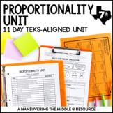 7th Grade Proportionality Unit: TEKS 7.4D, 7.4B, 7.4E
