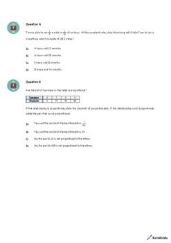 7th Grade Quiz: Compute Unit Rates with Ratios