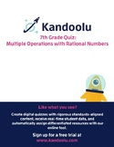 7th Grade Quiz: Multiple Operations with Rational Numbers