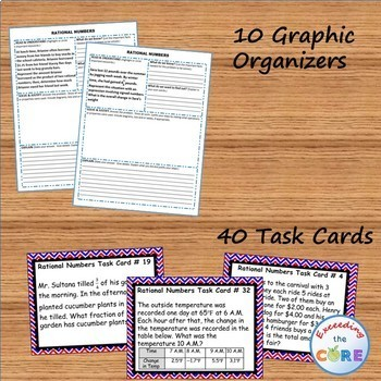 RATIONAL NUMBERS BUNDLE Task Cards, Error Analysis, Problem Solving, HW Practice