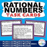 RATIONAL NUMBERS Fractions & Decimals Word Problems Task Cards