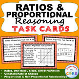 RATIOS & PROPORTIONAL REASONING Task Cards Word Problems {40 Cards}