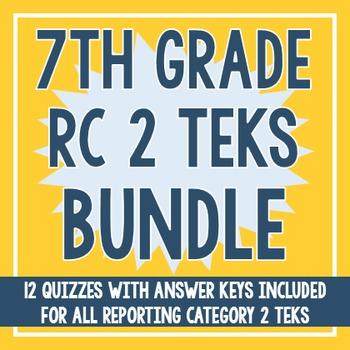 7th Grade RC 2 TEKS BUNDLE! (All RC 2 TEKS)