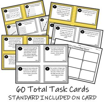7th Grade Math Ratios & Proportional Relationships Task Card Bundle