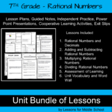 7th Grade - Rational Numbers Unit, 144 pages