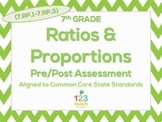 7th Grade Ratios & Proportions (7.RP.1 - 7.RP.3) Common Core Test Assessment