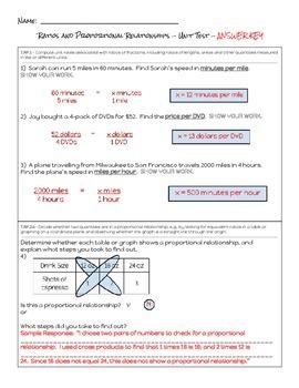 7th Grade Ratios & Proportions Unit Test