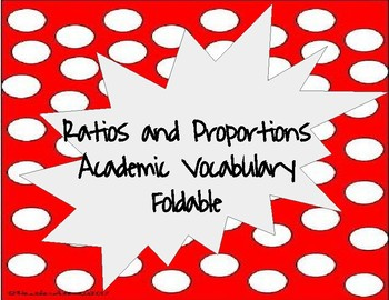 7th Grade Ratios and Proportion Vocabulary
