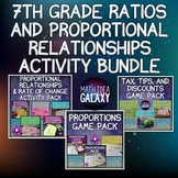 7th Grade Ratios and Proportional Relationships Activity Bundle