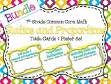 7th Grade Ratios and Proportions Task Cards and Poster Unit Resource Bundle