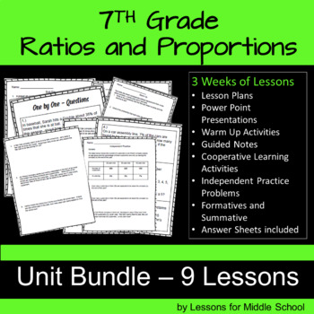 Tips taxes and interest teaching resources teachers pay teachers 7th grade math ratios and proportions unit bundle of 9 lessons 250 pages fandeluxe Image collections