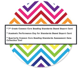 7th Grade Reading Common Core Standards Based Report Card/Tracking Tool