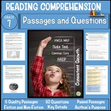 7th Grade Reading Comprehension Passages and Questions