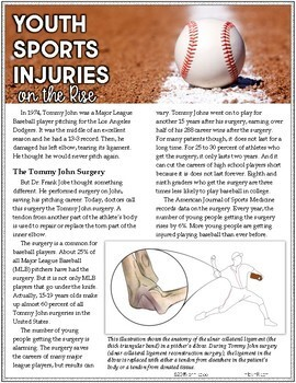 7th Grade Reading Informational Text MIDTERM EXAM | Article #7-13 Sports Injury