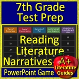7th Grade Test Prep: Reading Literature and Narratives - PowerPoint Game