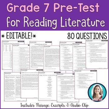 7th Grade Reading Pre-Test | Reading Literature Pre-Assessment for Grade 7