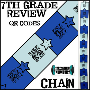 Review QR code Paper Chain (End of Year 7th Grade/First Day of School 8th)