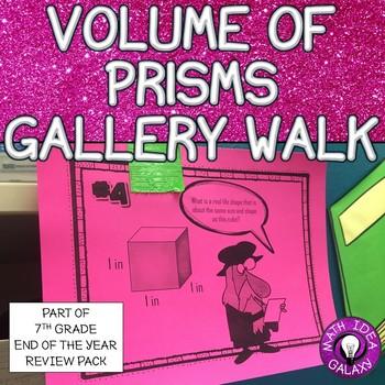 7th Grade Review- Volume Gallery Walk