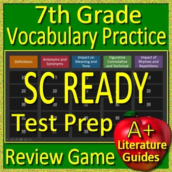 7th Grade SC READY Test Prep Vocabulary Practice Review Game