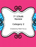 7th Grade STAAR Math Category 2 Review with QR codes