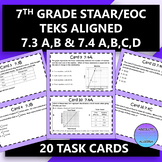 7th Grade STAAR EOC TEKS Aligned Task Cards 7.3 A,B and 7.
