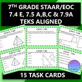 7th Grade STAAR EOC TEKS Aligned Task Cards 7.4 E, 7.5 A,B