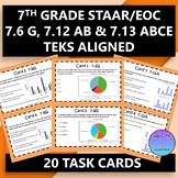 7th Grade STAAR EOC TEKS Aligned Task Cards 7.6 G, 7.12 AB