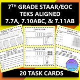 7th Grade STAAR EOC TEKS Aligned Task Cards 7.7 A, 7.10 A,