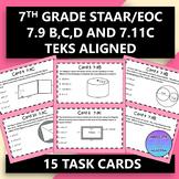 7th Grade STAAR EOC TEKS Aligned Task Cards 7.9 B,C,D and 7.11 C