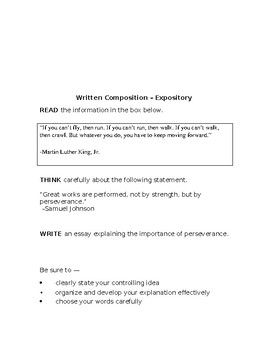 7th Grade STAAR Expository Prompts