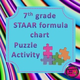 7th Grade STAAR Formula Chart Matching Activity - 2 Versions