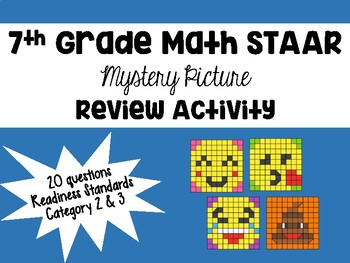 7th Grade STAAR Math Mystery Picture REVIEW Activity by ...