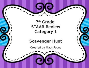 7th Grade STAAR Math Category 1 Scavenger Hunt