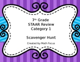 7th Grade STAAR Math Category 1 Scavenger Hunt