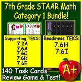7th Grade STAAR Math TEKS Test Prep Practice Tests: Supporting AND Readiness