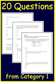 7th Grade STAAR Math Test Prep Cat 1 TEKS: 7.2A 7.6A 7.6C ...