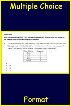 7th Grade STAAR Math Test Prep Cat 1 TEKS:  7.2A 7.6A 7.6C 7.6D 7.6E 7.6H 7.6I