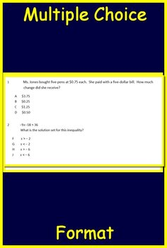 7th Grade STAAR Math Test Prep C2: TEKS (7.3A-B, 7.4A-D, 7.7A, 7.10A-C, 7.11A-B)