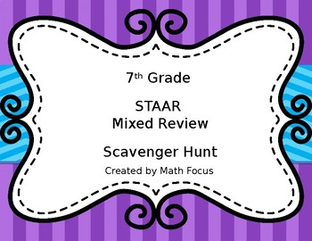 7th Grade STAAR Mixed Review Scavenger Hunt