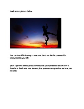 7th Grade STAAR Personal Narrative Writing Prompt