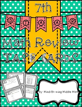 7th Grade STAAR Review TASK CARDS - 24 Readiness Standard Questions