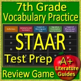 7th Grade STAAR Test Prep Reading Vocabulary Practice Game