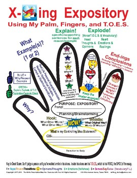 7th Grade STAAR Writing Explaining Expository using my Palm, Fingers, and TOES
