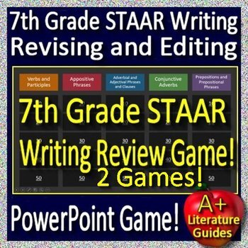 7th Grade STAAR Writing Practice Tests and Games Bundle ...